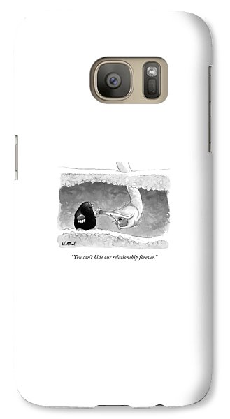 Ostrich Galaxy S7 Case - An Underground Mole Says To A Ostrich Poking by Will McPhail
