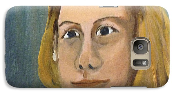 Galaxy Case featuring the painting ANA by Art Ina Pavelescu