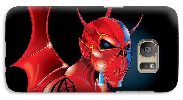 Galaxy Case featuring the digital art Anarchy by Brian Gibbs