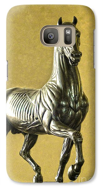 Galaxy Case featuring the digital art Anatomical Horse by Gregory Dyer