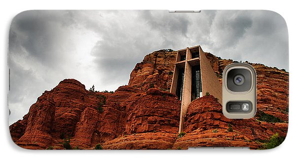 Galaxy Case featuring the photograph Anchored On The Rock Sedona Az by Terry Garvin
