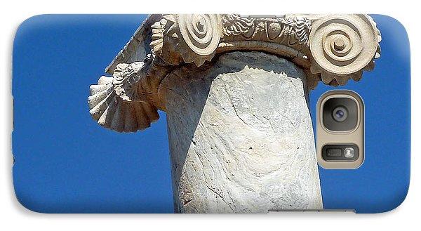 Galaxy Case featuring the photograph Ancient Delos Greece by Cheryl Del Toro