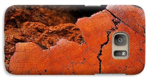 Galaxy Case featuring the photograph Ancient Log by Crystal Hoeveler