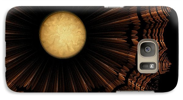 Galaxy Case featuring the digital art Ancient Nimbus World by Linda Whiteside