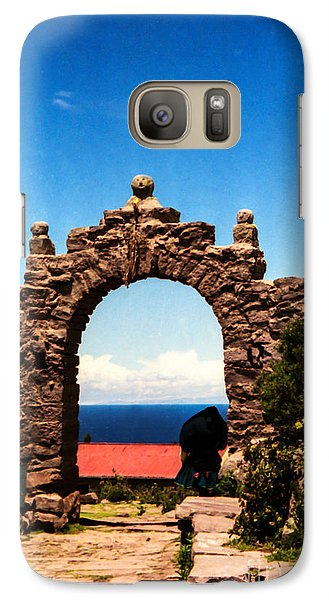 Galaxy Case featuring the photograph Ancient Portal by Suzanne Luft