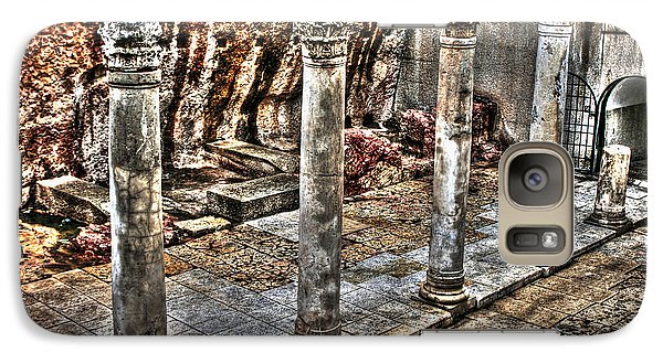 Galaxy Case featuring the photograph Ancient Roman Columns In Israel by Doc Braham