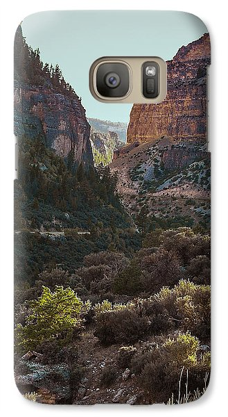 Galaxy Case featuring the photograph Ancient Walls In Wyoming by Karen Musick