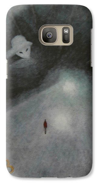 Galaxy Case featuring the painting And Aliens by Min Zou