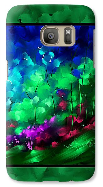 Galaxy Case featuring the painting And I Think To Myself by Steven Lebron Langston