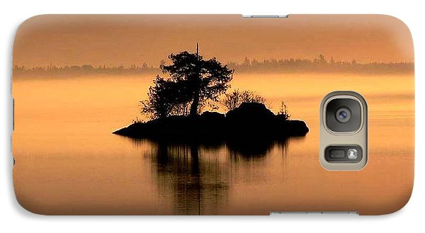 Galaxy Case featuring the photograph And The Fog Rolls In by Larry Trupp