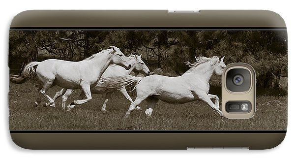 Galaxy Case featuring the photograph And The Race Is On D5932 by Wes and Dotty Weber