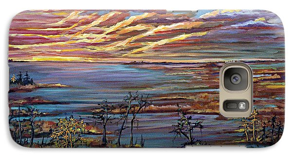 Galaxy Case featuring the painting And The Trees Clapped Their Hands by Suzanne McKee