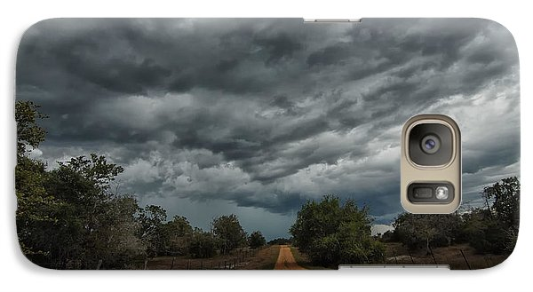 Galaxy Case featuring the photograph And Then The Rain Came by Susan D Moody