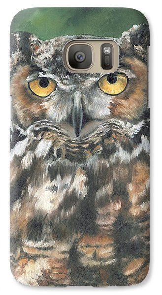 Galaxy Case featuring the painting And You Were Saying by Lori Brackett