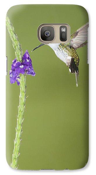 Galaxy Case featuring the photograph Andean Emerald Hummingbird by Dan Suzio