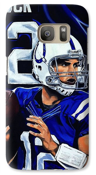 Andrew Luck Galaxy S7 Case by Chris Eckley