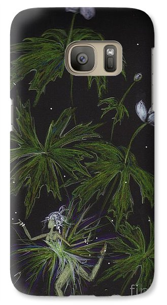 Galaxy Case featuring the drawing Anemone by Dawn Fairies