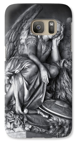 Galaxy Case featuring the digital art Angel And Lion by Gregory Dyer