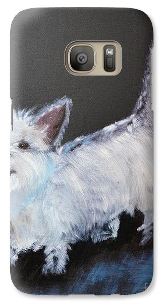 Galaxy Case featuring the painting Angel Baby by Denise Tomasura