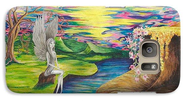 Galaxy Case featuring the mixed media Angel Fairy by Yolanda Raker