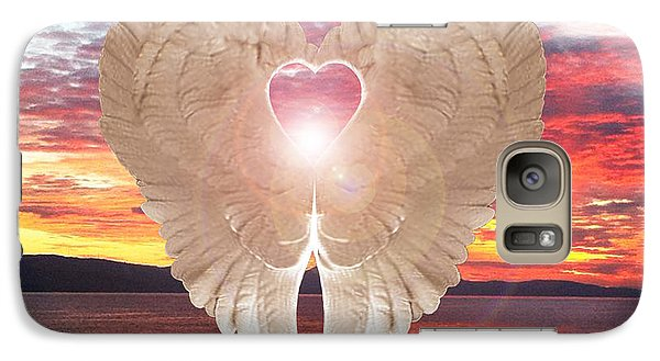 Galaxy Case featuring the digital art Angel Heart At Sunset by Eric Kempson