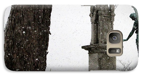 Galaxy Case featuring the photograph Angel In The Snow by Kimberly Mackowski