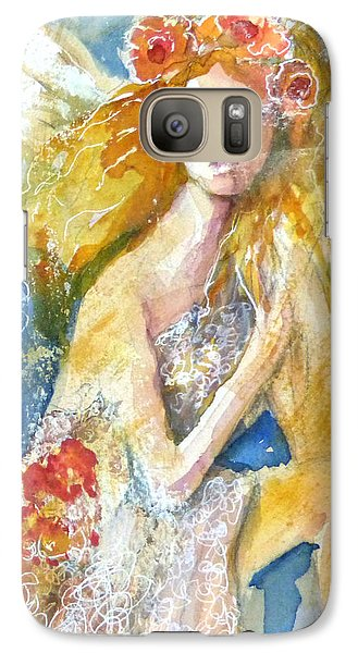 Galaxy Case featuring the painting Angel In Waiting by P Maure Bausch