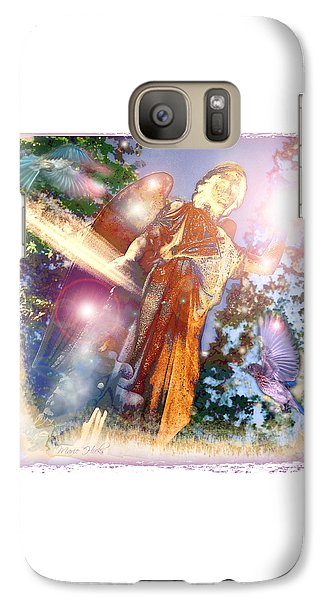 Galaxy Case featuring the photograph Angel Light by Marie Hicks
