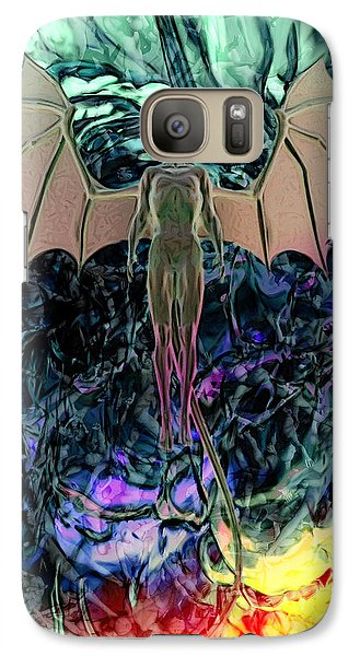 Galaxy Case featuring the digital art Angel by Matt Lindley
