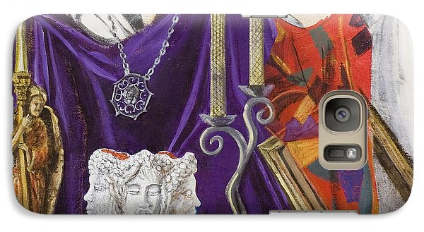Galaxy Case featuring the painting Angel Meets Janus by Susan Culver