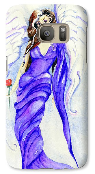 Galaxy Case featuring the painting Angel by Nadine Dennis