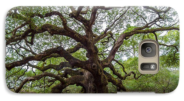 Galaxy Case featuring the photograph Angel Oak Tree by Dale Powell
