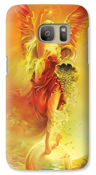 Galaxy Case featuring the painting Angel Of Abundance - Fortuna by Anna Ewa Miarczynska
