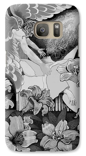 Galaxy Case featuring the digital art Angel Of Death Vision by Carol Jacobs