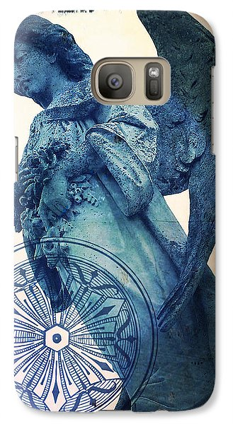 Galaxy Case featuring the digital art Angel Of Peace - Art Nouveau by Absinthe Art By Michelle LeAnn Scott