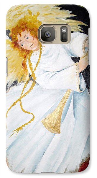Galaxy Case featuring the painting Angel Of The Apocalypse by Ellen Canfield