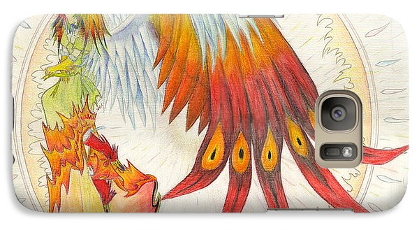 Galaxy Case featuring the painting Angel Phoenix by Shawn Dall