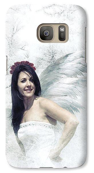 Galaxy Case featuring the digital art Angel  by Riana Van Staden