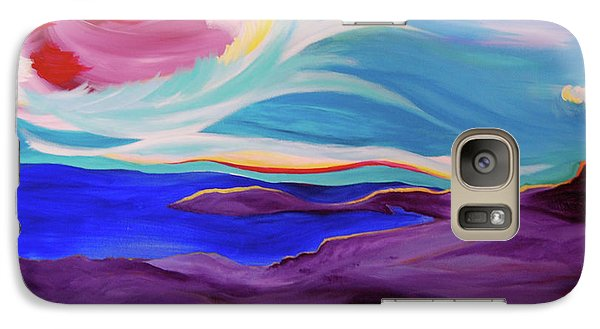 Galaxy Case featuring the painting Angel Sky by First Star Art