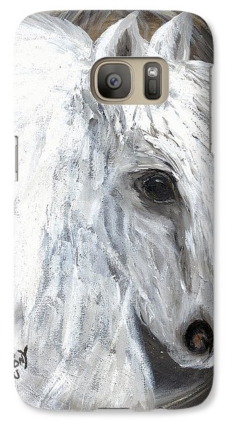 Galaxy Case featuring the painting Angel  by Barbie Batson