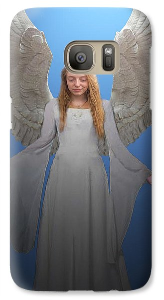 Galaxy Case featuring the photograph Angelic Angel by Eric Kempson