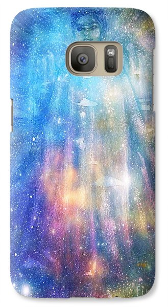 Galaxy Case featuring the painting Angelic Being by Leanne Seymour