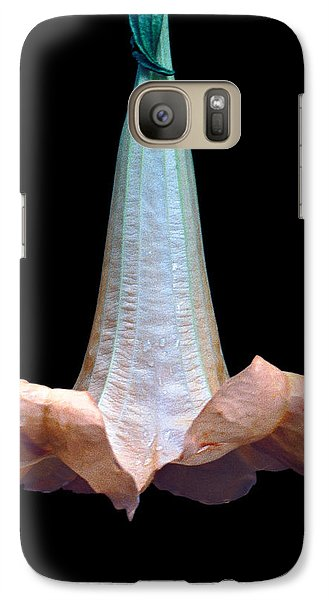 Galaxy Case featuring the photograph Angel's Trumpet by Tina Manley