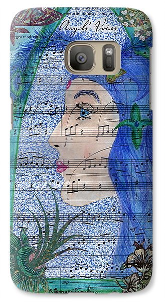 Galaxy Case featuring the drawing Angel's Voices by Tamyra Crossley