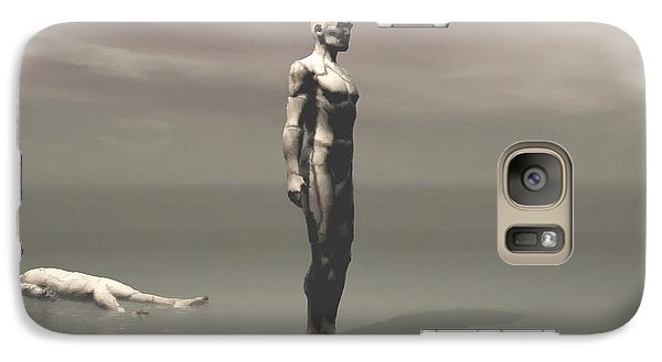 Galaxy Case featuring the digital art Anger by John Alexander