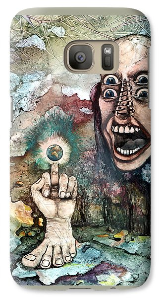 Galaxy Case featuring the painting Anger Of Archon by Mikhail Savchenko