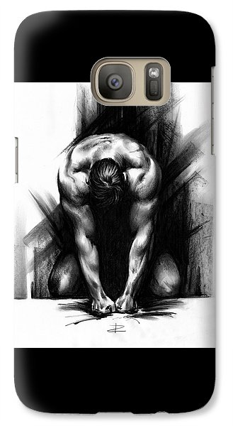 Galaxy Case featuring the drawing Anger by Paul Davenport