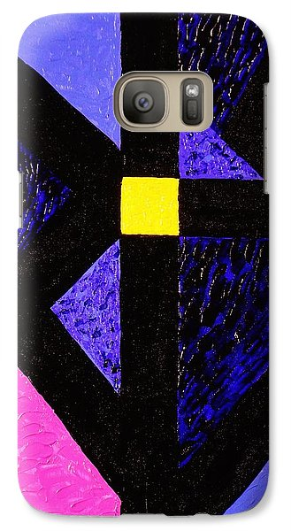 Galaxy Case featuring the painting Angles by Celeste Manning