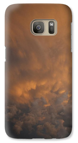 Galaxy Case featuring the photograph Angry Clouds  by Lyle Crump