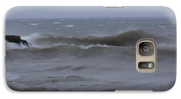 Galaxy Case featuring the photograph Angry Gitche Gumee by Gerry Sibell